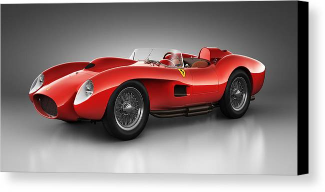 Transportation Canvas Print featuring the digital art Ferrari 250 Testa Rossa - Spirit by Marc Orphanos