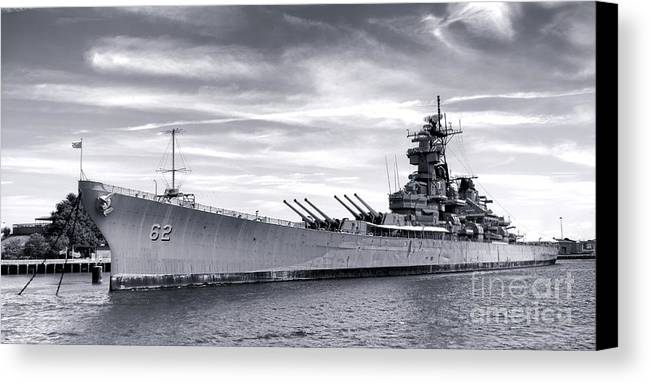 Uss New Jersey Canvas Print featuring the photograph The New Jersey by Olivier Le Queinec