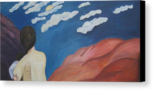 Landscape Canvas Print featuring the painting Expulsion by Lorraine Toler