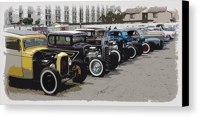 Hot Rods Canvas Print featuring the photograph Hot Rod Row by Steve McKinzie