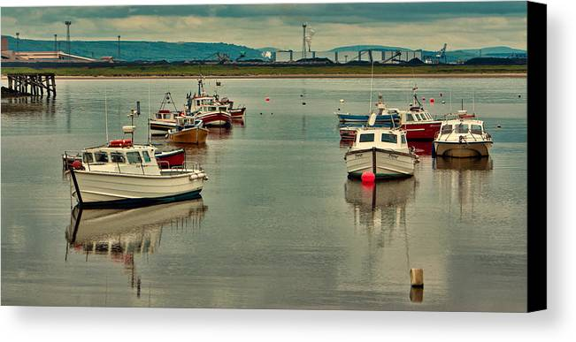 Paddys Hole Canvas Print featuring the photograph Calm Waters by Trevor Kersley