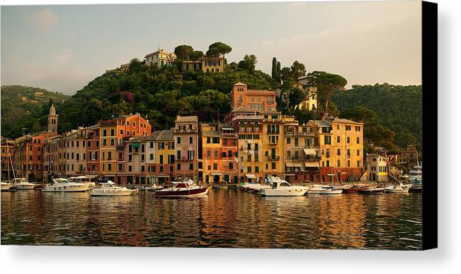 Portofino Canvas Print featuring the photograph Portofino Bay by Neil Buchan-Grant