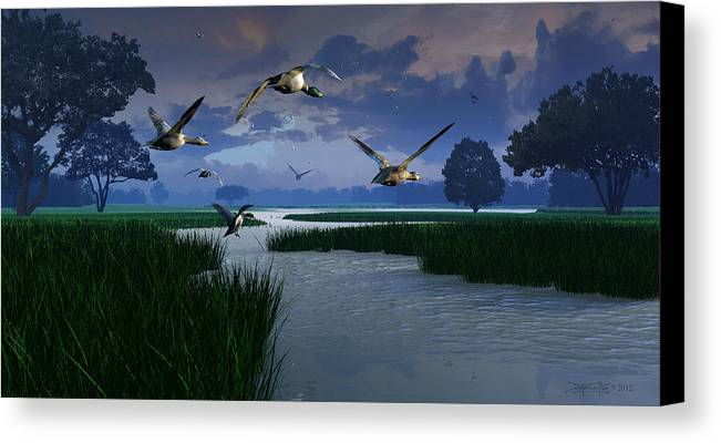 Dieter Carlton Canvas Print featuring the digital art Out Of The Storm by Dieter Carlton