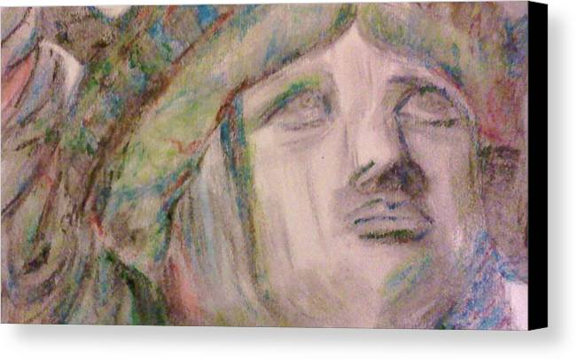 Colored Pencils Canvas Print featuring the drawing Lady Liberty by Christy Saunders Church