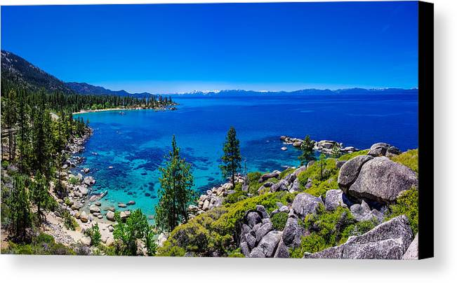 America Canvas Print featuring the photograph Lake Tahoe Summerscape by Scott McGuire