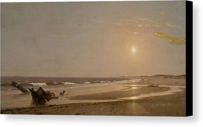 Seascape Canvas Print featuring the painting Seascape by William Trost Richards