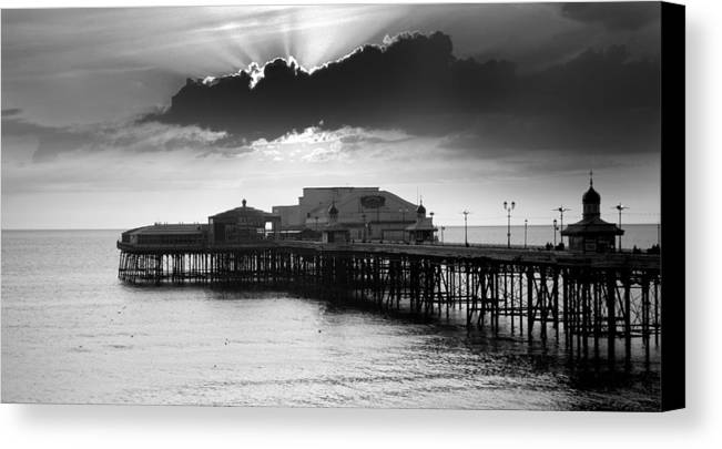 Pier Canvas Print featuring the pastel North Pier by Aetherial Pictography