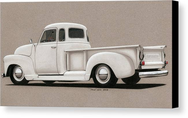 Automobile Canvas Print featuring the drawing Bright White 3100 Degrees by Paul Kim