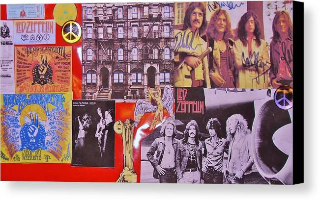 Led Zeppelin Canvas Print featuring the photograph Led Zeppelin Collage Number Two by Donna Wilson