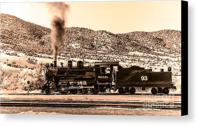Train Canvas Print featuring the photograph Nevada Northern Railway by Robert Bales