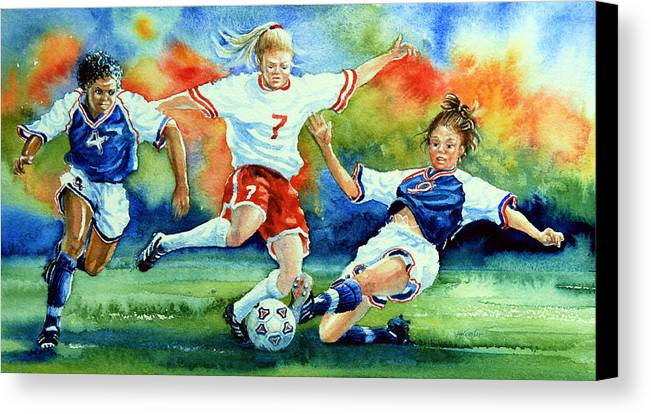 Sports Art Canvas Print featuring the painting Women by Hanne Lore Koehler