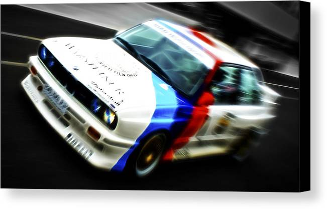 Bmw M3 Canvas Print featuring the photograph Bmw E30 M3 Racer by Phil 'motography' Clark