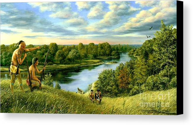 1780 Canvas Print featuring the painting The Scouting Party by Michael Swanson