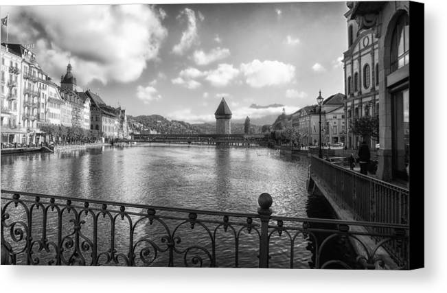 Lucerne Canvas Print featuring the photograph A Day In Lucerne by Mountain Dreams