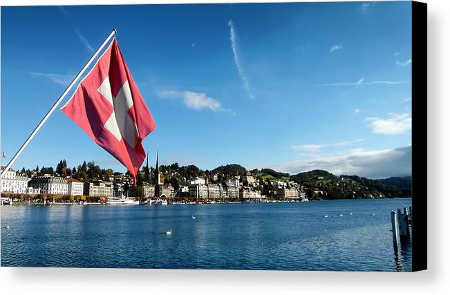 Lucerne Canvas Print featuring the photograph Beauty Of Lucerne by Mountain Dreams