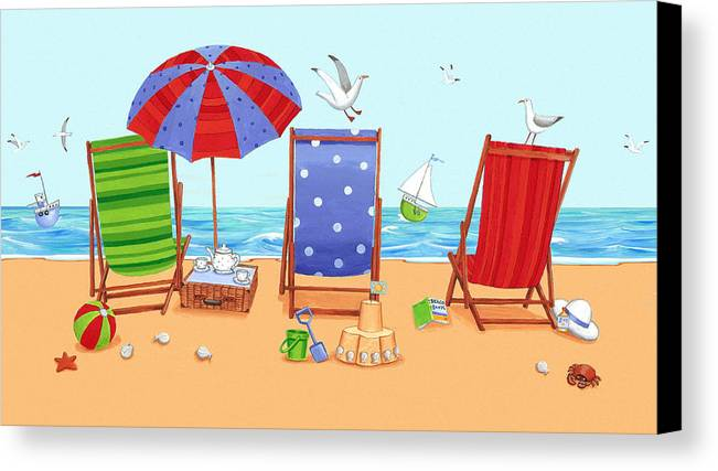 Architecture Canvas Print featuring the photograph Deckchairs by Peter Adderley