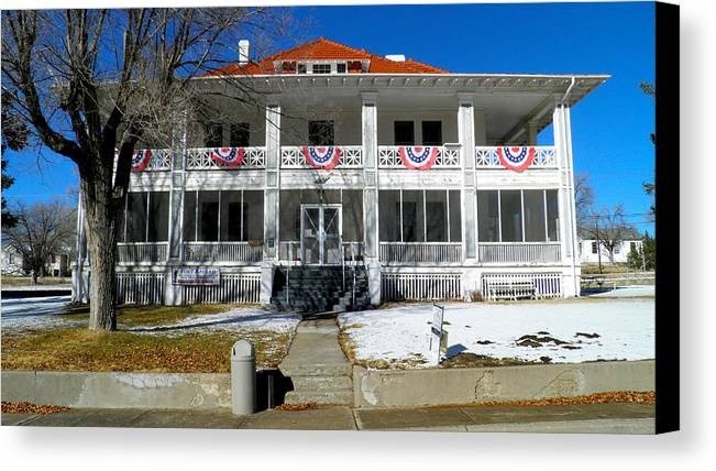 Fort Bayard Canvas Print featuring the photograph Fort Bayard Commandant's House by Feva Fotos