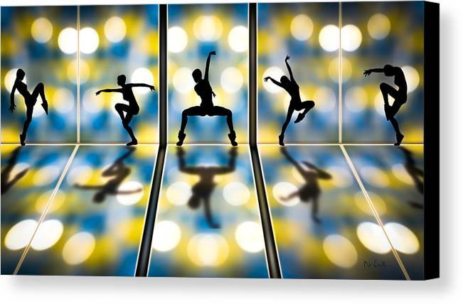 Dance Canvas Print featuring the digital art Joy Of Movement by Bob Orsillo