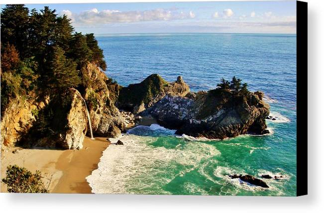 California Canvas Print featuring the photograph The Beauty Of Big Sur by Benjamin Yeager