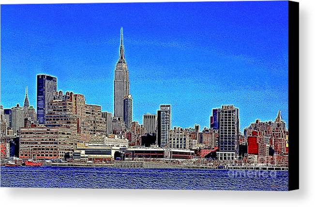 Building Canvas Print featuring the photograph The Empire State Building And The New York Skyline 20130430 by Wingsdomain Art and Photography