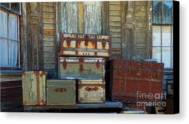 Still Life Canvas Print featuring the photograph Vintage Trunks  Sold by Marcia Lee Jones
