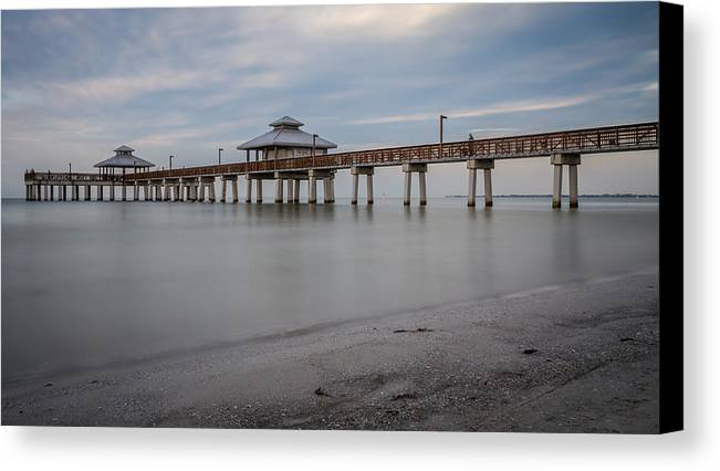 Fort myers beach fishing pier canvas print canvas art by for Fort myers beach fishing