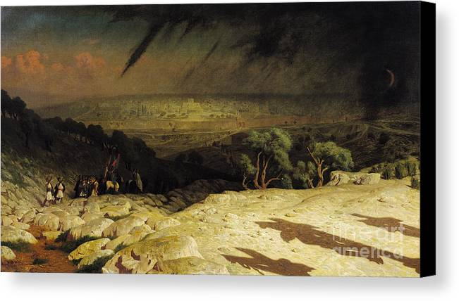 Jerusalem Canvas Print featuring the painting Jerusalem by Jean Leon Gerome