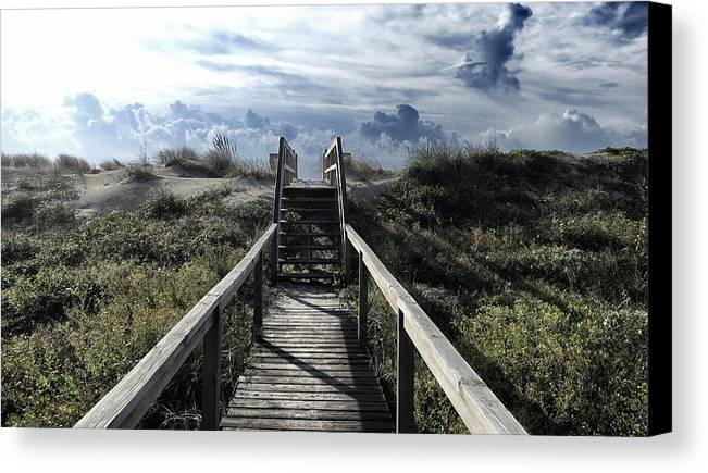 North Carolina Canvas Print featuring the photograph Beautiful Day At Cape Hatteras by Patricia Januszkiewicz