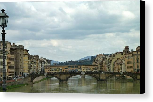 Travel Canvas Print featuring the photograph Florence. Ponte Vecchio by Anna and Sergey
