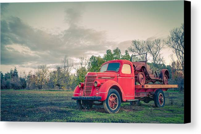 Rusty Old Red Pickup Truck Canvas Print / Canvas Art by ...
