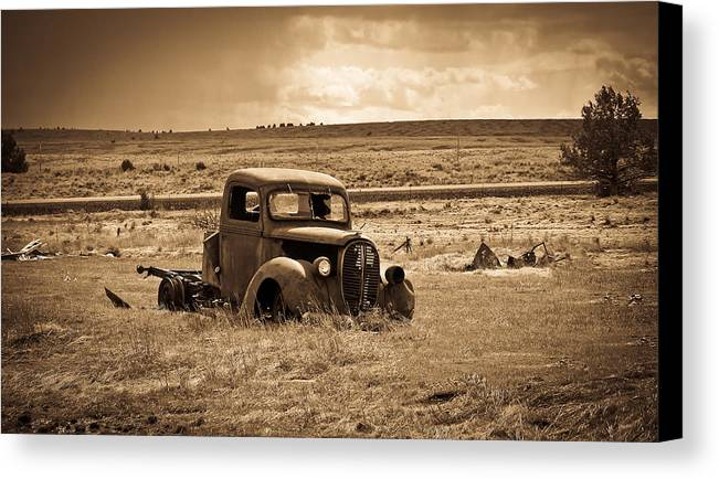 Ford Truck Canvas Print featuring the photograph 1938 Ford Pickup by Steve McKinzie