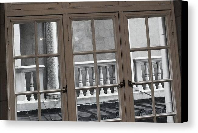 Columns Canvas Print featuring the photograph Neighbors Baluster by Anna Villarreal Garbis
