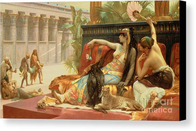 Egypt Canvas Print featuring the painting Cleopatra Testing Poisons On Those Condemned To Death by Alexandre Cabanel