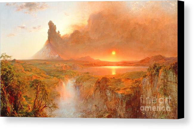 Cotopaxi Canvas Print featuring the painting Cotopaxi by Frederic Edwin Church