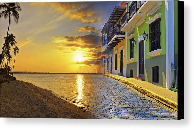 Puerto Rico Canvas Print featuring the photograph Puerto Rico Montage 1 by Stephen Anderson