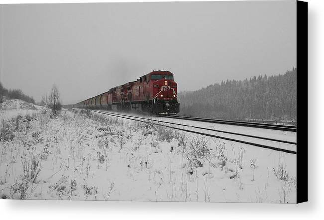 Transportation Canvas Print featuring the photograph Cp Rail 2 by Stuart Turnbull