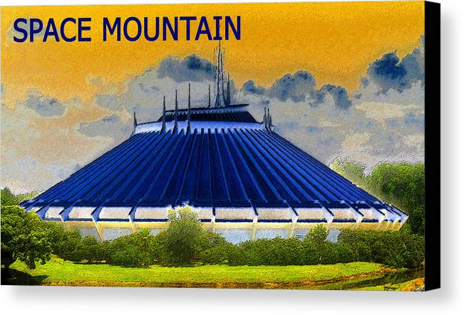 Art Canvas Print featuring the painting Space Mountain by David Lee Thompson