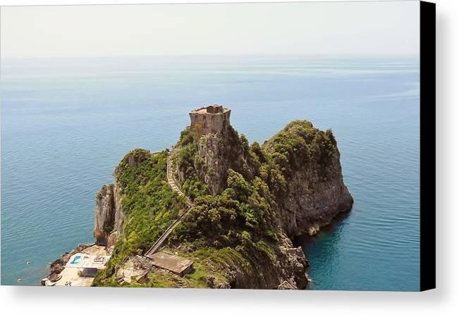 Amalfi Coast Canvas Print featuring the photograph Concu Dei Marini Amalfi by Marilyn Dunlap