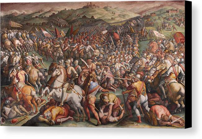 The battle of marciano in val di chiana canvas print for Battle of marciano mural