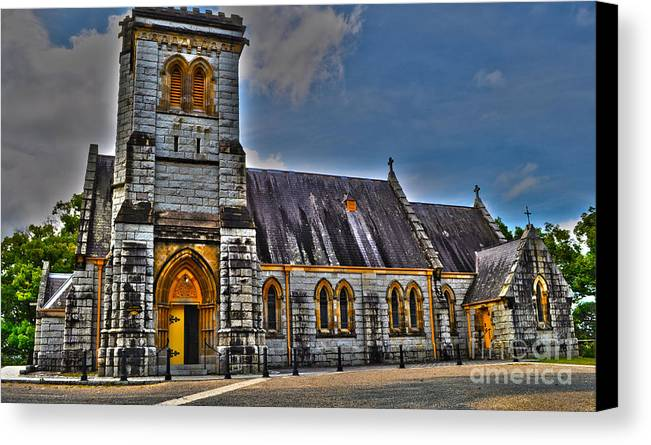 Church Canvas Print featuring the photograph Bodalla All Saints Anglican Church by Joanne Kocwin