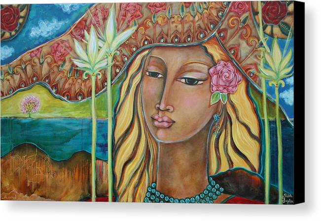 Inspirational Art Canvas Print featuring the painting Inspired by Shiloh Sophia McCloud