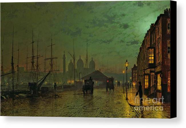 Prince Canvas Print featuring the painting Prince's Dock Hull by John Atkinson Grimshaw