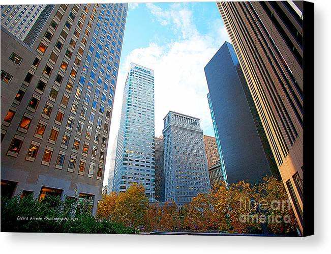 My Office In Downtown San Francisco Canvas Print featuring the photograph Office Space For Rent In Downtown San Francisco by Artist and Photographer Laura Wrede