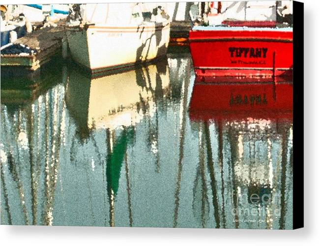 Boat Harbor Canvas Print featuring the photograph Tiffany Sailed From San Francisco To Moss Landing by Artist and Photographer Laura Wrede