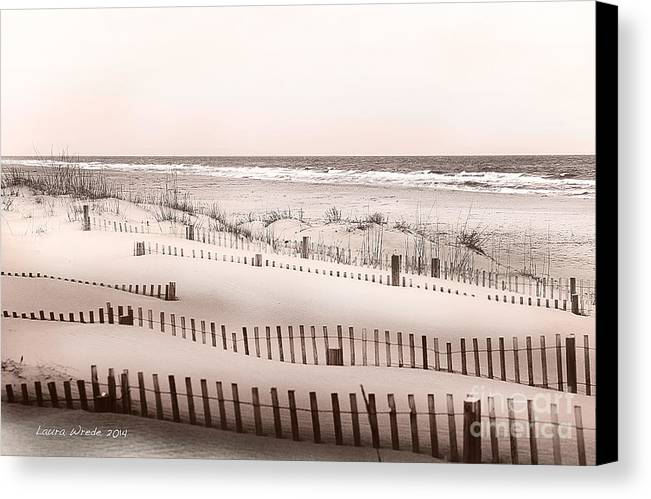 Virgina Beach Vacation Memories Canvas Print featuring the photograph Virgina Beach Vacation Memories by Artist and Photographer Laura Wrede