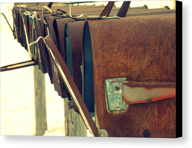 Mail Canvas Print featuring the photograph Waiting by Carla Froshaug