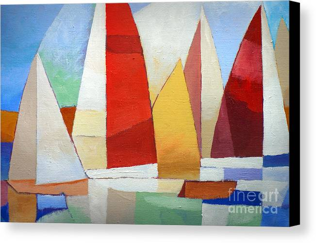 I Am Sailing Canvas Print featuring the painting I Am Sailing by Lutz Baar