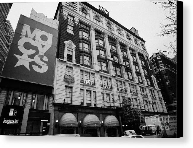 Usa Canvas Print featuring the photograph Macys Department Store New York City by Joe Fox