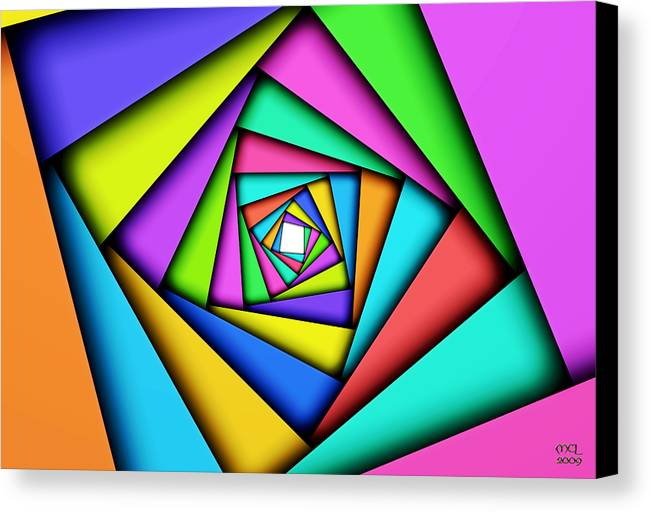 Computer Canvas Print featuring the digital art Worldview by Manny Lorenzo