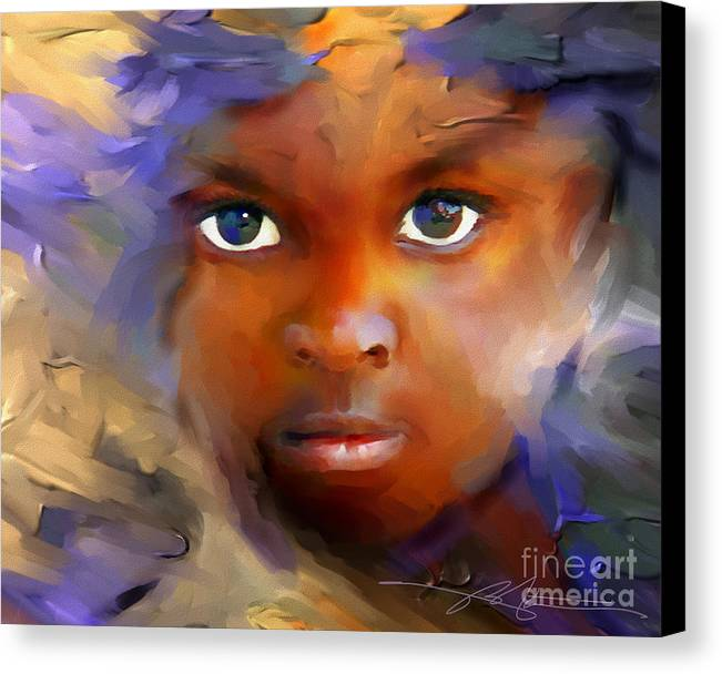 Haiti Canvas Print featuring the painting Every Child by Bob Salo
